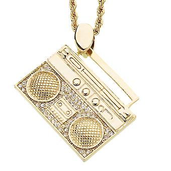 Iced Out Bling Mini Chain-OLD SCHOOL gold