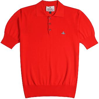 Vivienne Westwood Classic Knit Polo Shirt Red