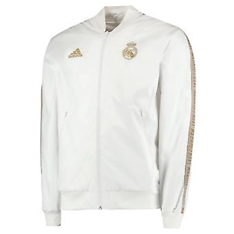 2019-2020 Real Madrid Adidas Anthem Jacket (White) - Kids