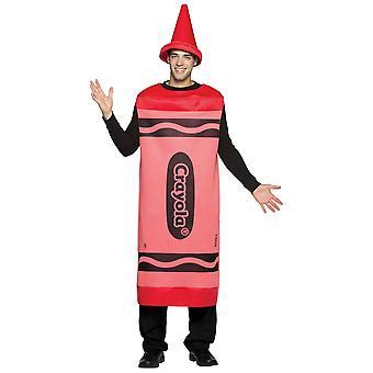 Crayola rode Crayon kleur kunst school verjaardag partij Womens mens kostuum L/XL