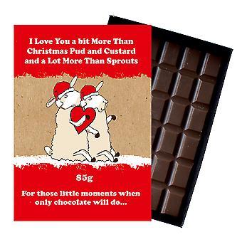 Rolig julklapp till flickvän pojkvän boxed choklad Xmas närvarande för honom eller henne XMS119
