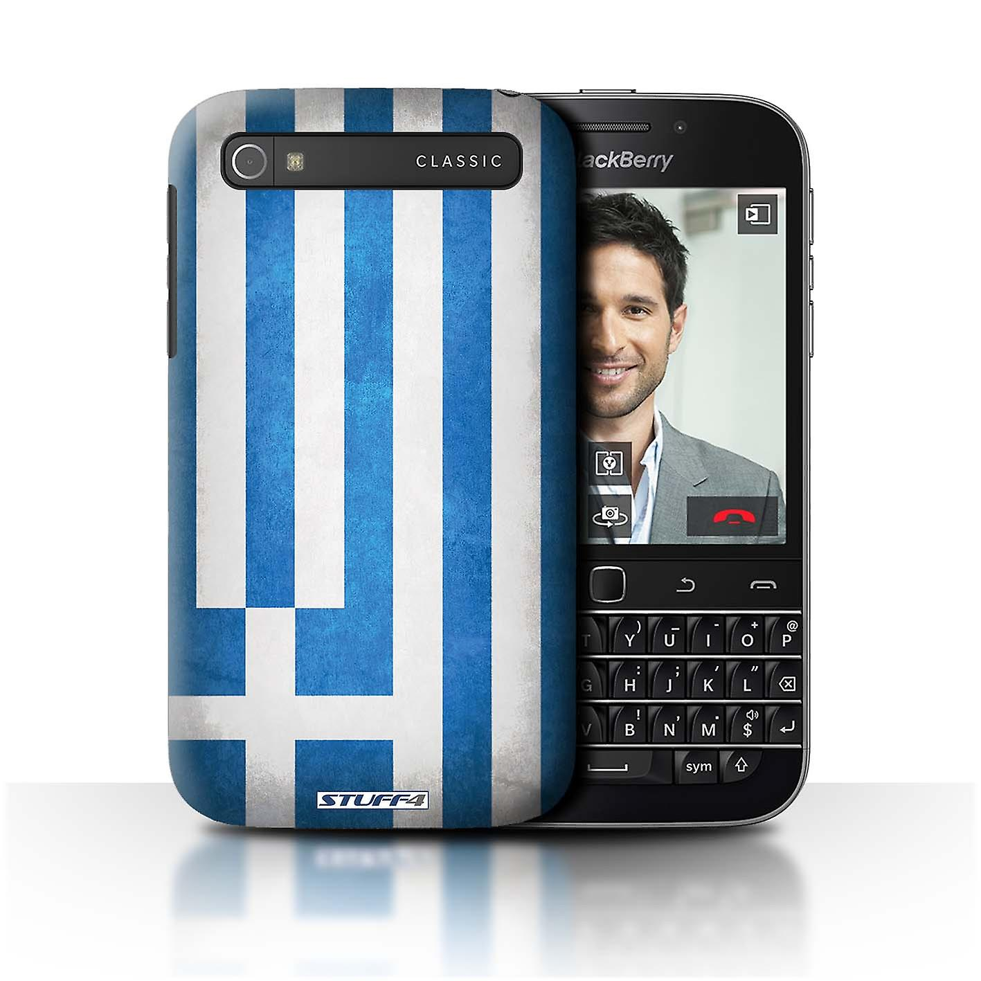 STUFF4 Case/Cover for Blackberry Classic/Q20/Greece/Greek/Flags