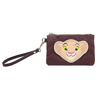 Bolsa de monedero de Lion King Nala Face Logo nueva bolsa oficial de Disney Brown