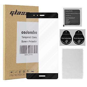 Cadorabo koko näytön säiliö elokuva Huawei P9 PLUS-karkaistu näyttö suojaava lasi 9H kovuus 3D Touch yhteensopivuus