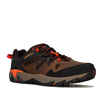 Mens Merrell All Out Blaze 2 Gtx Trainers In Brown- Lace Up Closure- Gore-Tex�