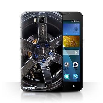 STUFF4 Case/Cover for Huawei Honor Bee/Y5c/Black/Blue/Alloy Wheels