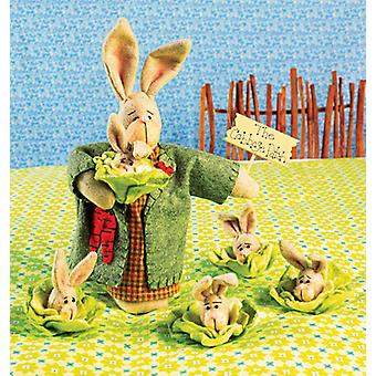 Mama Bunny And Baby Bunny Cabbages  Pattern K4008