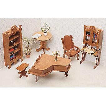 Dollhouse Furniture Kit Library 72G 06