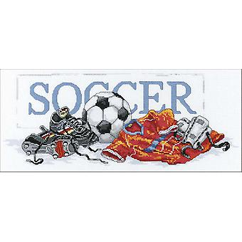 Soccer Counted Cross Stitch Kit 16
