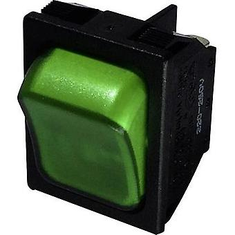 Toggle switch 250 Vac 10 A 1 x Off/On SCI R13-87B-02 GREEN latch 1 pc(s)