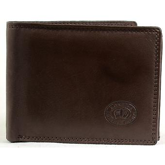 Men's Matt Finish Nappa Leather Wallet with Multiple Credit Card Slots, ID/Photo Windows and Pockets  - Black