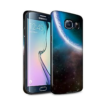 STUFF4 Gloss Tough Case for Samsung Galaxy S6 Edge+/Blue Eclipse/Space/Cosmos