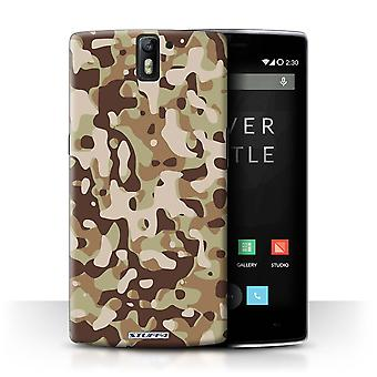 STUFF4 Case/Cover voor OnePlus One/bruin 3/Camouflage Army Navy