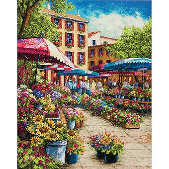 Gold Collection Provence Market Counted Cross Stitch Kit-12