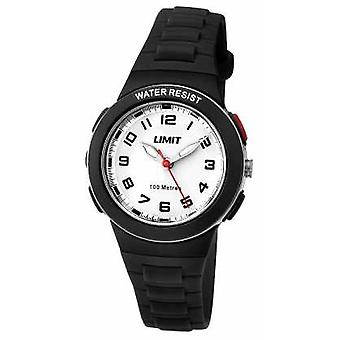 Limit Kids Black Resin Strap White Dial 5591.24 Watch