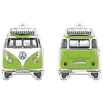 Official VW Camper Van T1 Air Freshener - Green Apple