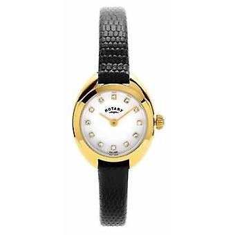 Rotary Womans Gold Plated Leather Strap LS05015/11 Watch