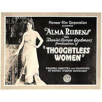 Thoughtless Women On Left Alma Rubens Title Card 1920 Movie Poster Masterprint