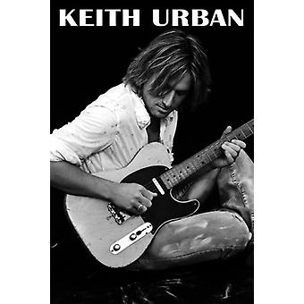 Keith Urban Guitar affiche Poster Print