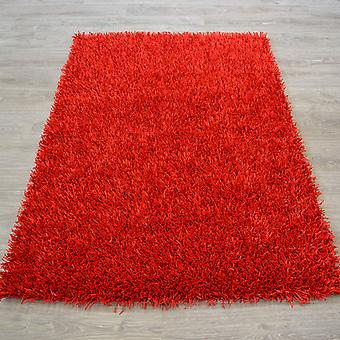 Spider Shaggy Rugs In Ruby Red