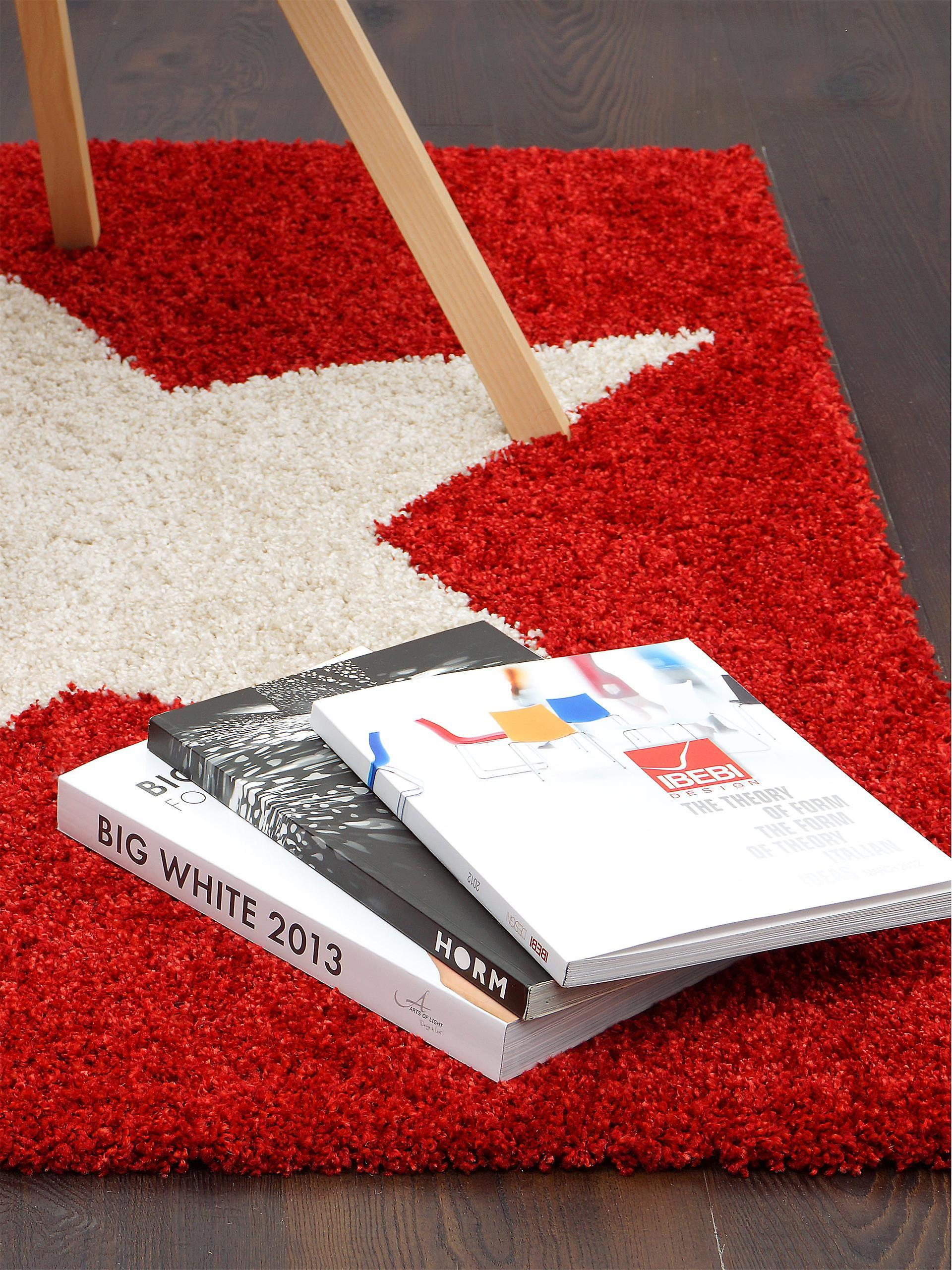 benuta Graphic Star Shaggy tapis rouge