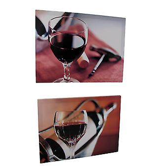 Pair of Wine Themed Printed Canvases