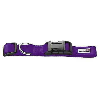 Doodlebone Bold Nylon Collar Purple Medium 20mm X 40-60cm