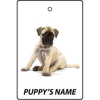 Personalised Bull Mastiff Puppy Car Air Freshener