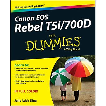 Canon EOS Rebel T5i/700D For Dummies (Paperback) by King Julie Adair Correll Robert