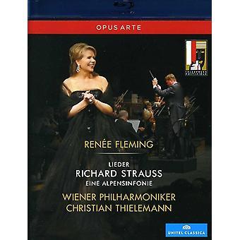 R. Strauss - Renee Fleming en vivo en concierto: importación de Estados Unidos Lieder/Eine Alpensi [BLU-RAY]