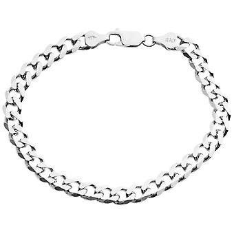 Sterling 925 Silver curb chain bracelet - CURB 6, 7 mm