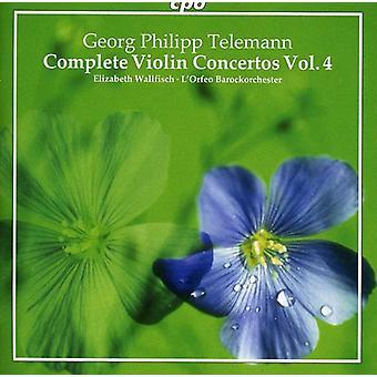 G.P. Telemann - Telemann: Complete Violin Concertos, Vol. 4 [CD] USA import