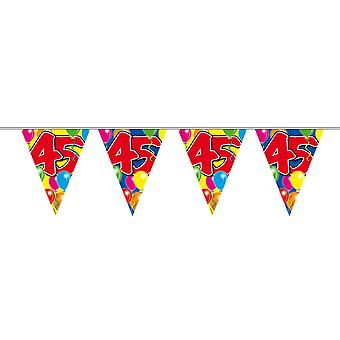 Pennant chain 10 m number 45 years birthday decoration party Garland