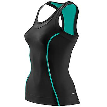 Skins Women A200 Racer Back Top Black-Green - B61065051