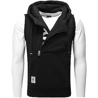 Akito Tanaka vertical ZIP VEST black/white