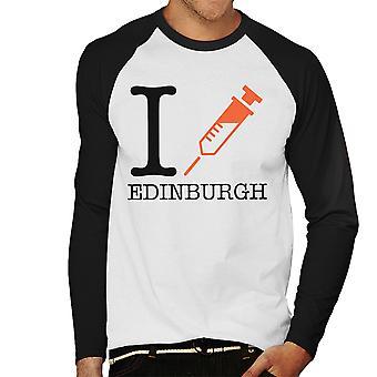 Trainspotting T2 I Heart Edinburgh Herren Baseball Langarm T-Shirt