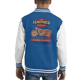 Haynes Motorrad BSA Golden Flash-Motorenöl Kid Varsity Jacket