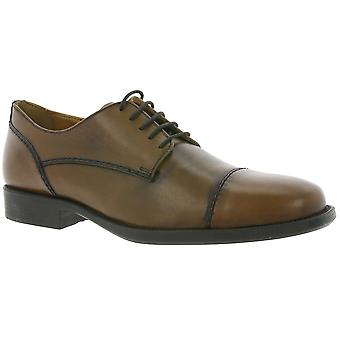 GEOX Respira U Federico A shoes real leather lace up Brown U7257A 00043 C6026