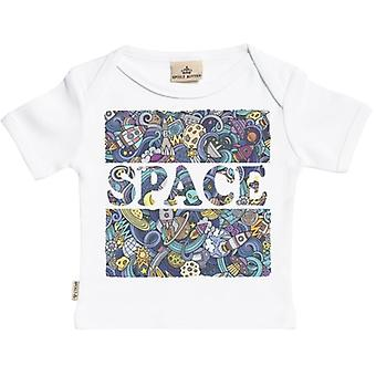 Spoilt Rotten Space Print Short Sleeve Baby T-Shirt