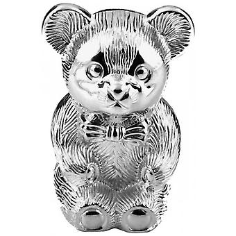 Juliana Bambino Silver Plated Bear Money Box - Silver