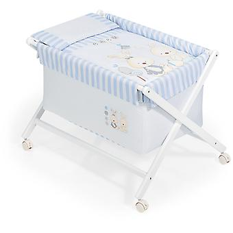 Interbaby Honey Baby Crib Blue Rabbit Model