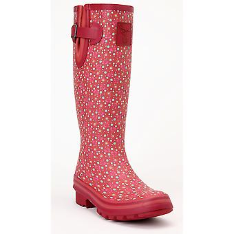 Evercreatures Ladies Cedar Wellies Printed Green & Pink Pattern - Various Sizes