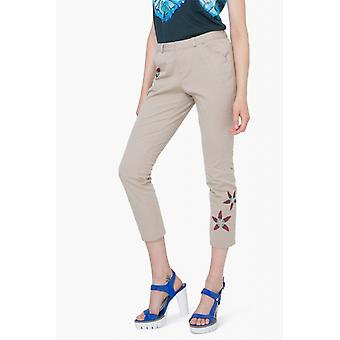 Desigual women's pants with flowers Pant Nuria Gr. 40