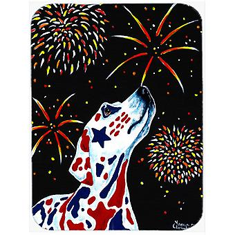 For our Heros Fireworks Patriotic Dalmatian Mouse Pad, Hot Pad or Trivet