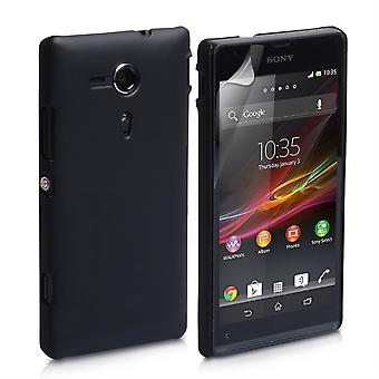 Yousave accessoires Sony Xperia SP harde Hybrid Case - zwart