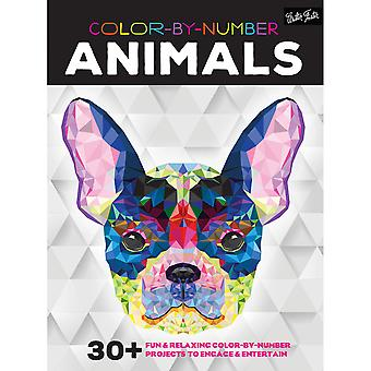 Walter Foster Creative Books-Color By Number - Animals WFC-20997