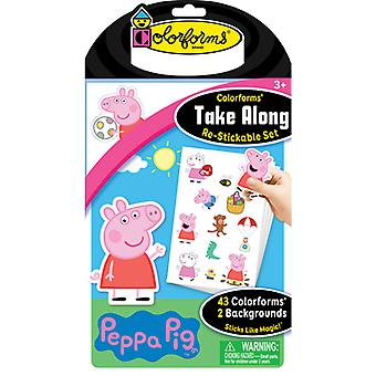 Colorforms(R) Take Along Re-Stickable Sticker Set-Peppa Pig COLORTA-733