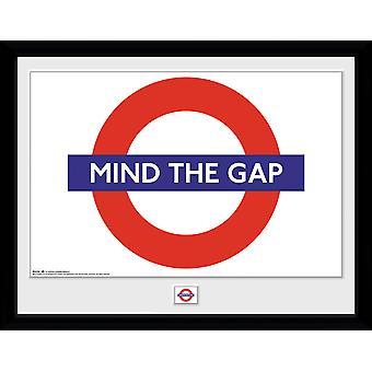 Transport For London Mind The Gap frame af: drukken van de verzamelaar