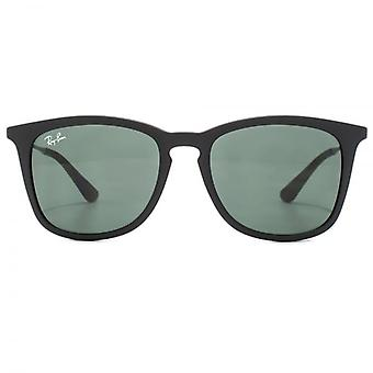 Ray-Ban Junior Square Keyhole Sunglasses In Black Rubber