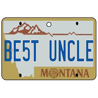 Montana - Best Uncle License Plate Car Air Freshener